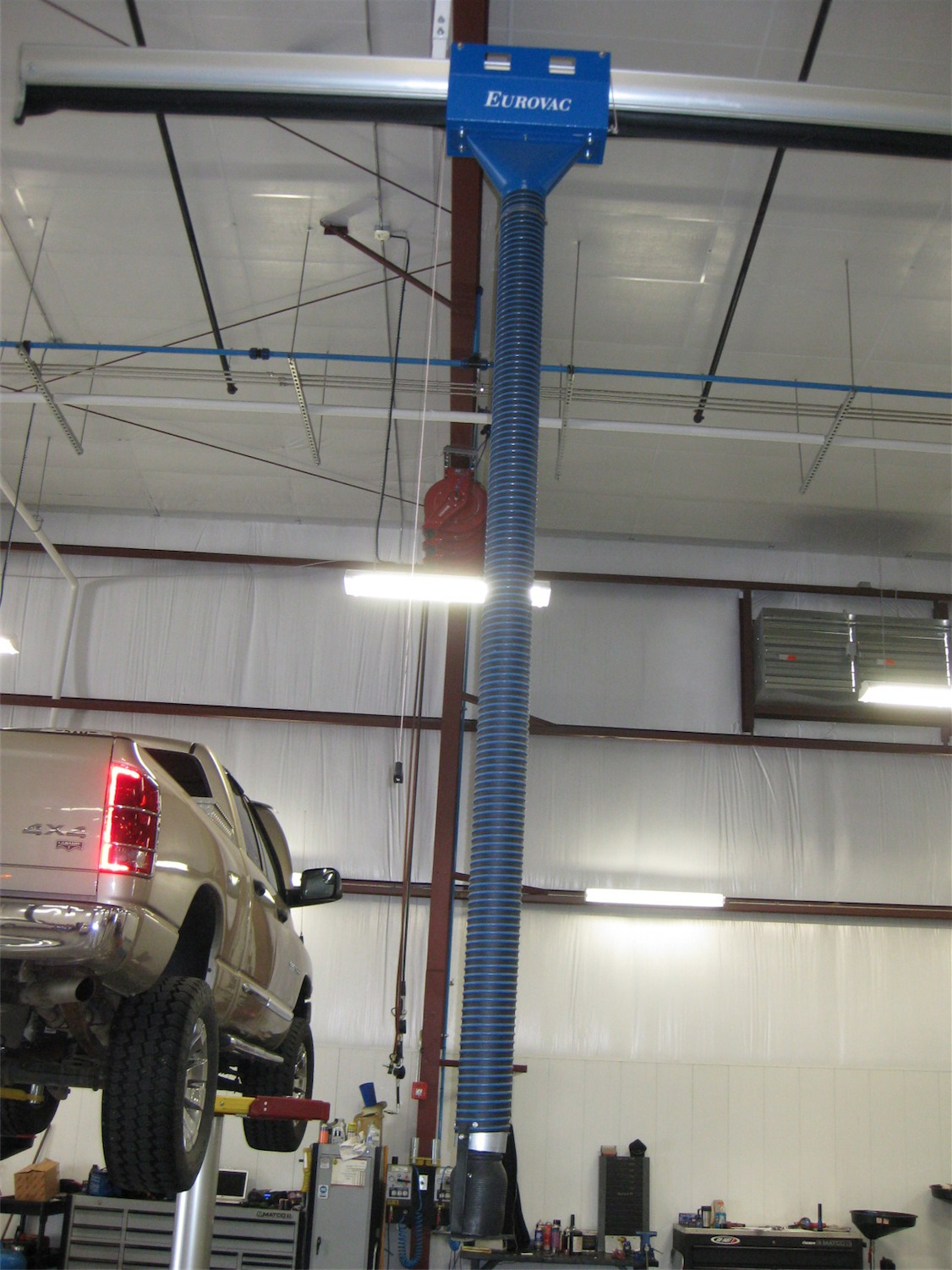 Vehicle Exhaust Sliding Rail System