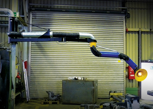 Car Wash Vacuum >> Fume Extraction Pivoting Boom Extensions